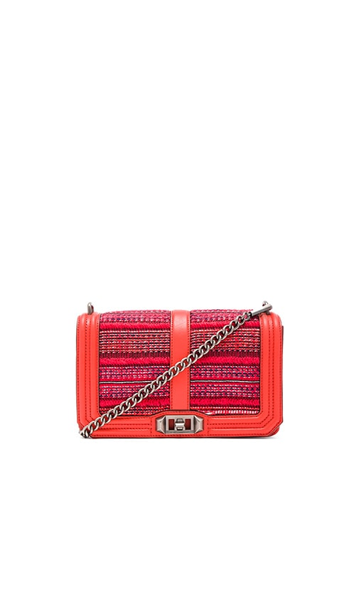 Rebecca Minkoff Love Crossbody Bag in Poppy Red Multi