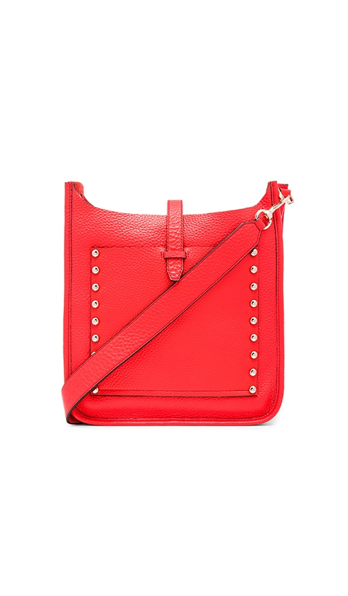 Rebecca Minkoff Unlined Feed Crossbody Bag in Red
