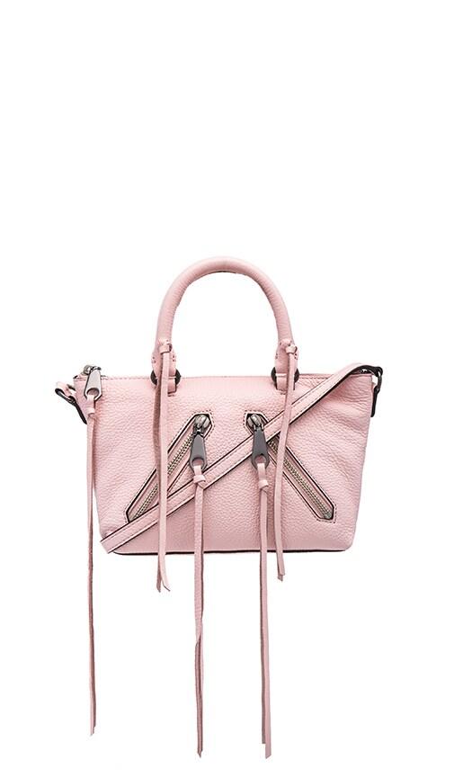Rebecca Minkoff Micro Moto Satchel Bag in Pale Blush