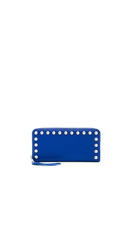 Rebecca Minkoff Ava Zip Studded Wallet in Royal