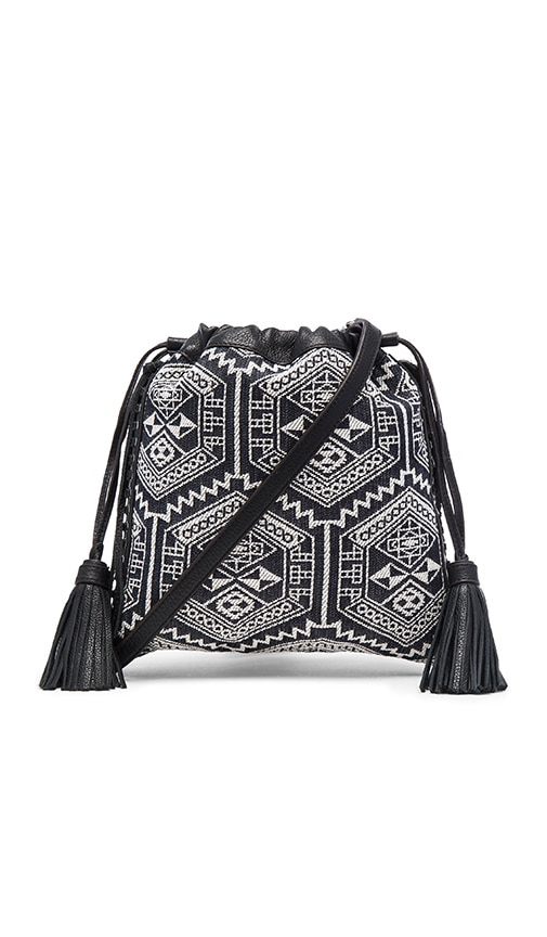 Rebecca Minkoff Moto Drawstring Crossbody Bag in Aztec Multi