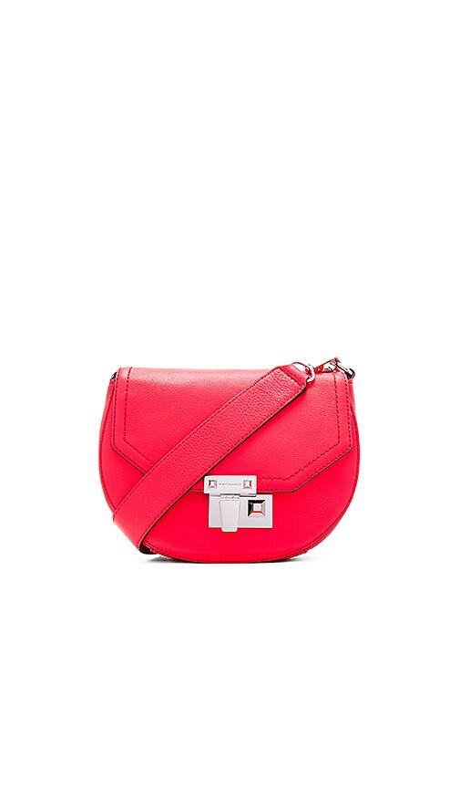 Rebecca Minkoff Paris Saddle Bag in Dragon Fruit