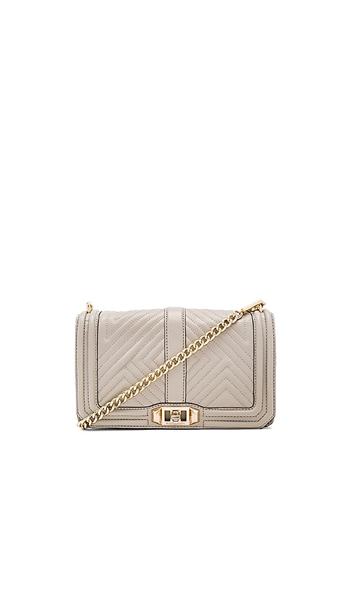 Rebecca Minkoff Geo Quilted Love Crossbody Bag in Taupe