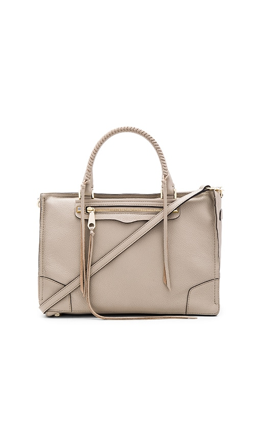 Rebecca Minkoff Regan Satchel Bag in Taupe