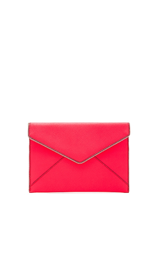 Rebecca Minkoff Leo Clutch in Red