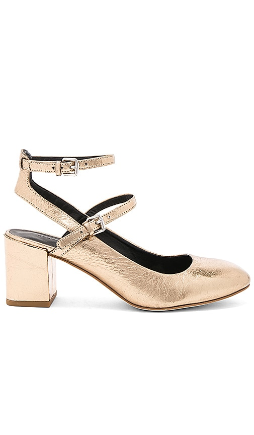 Rebecca Minkoff Brooke Flat in Metallic Gold