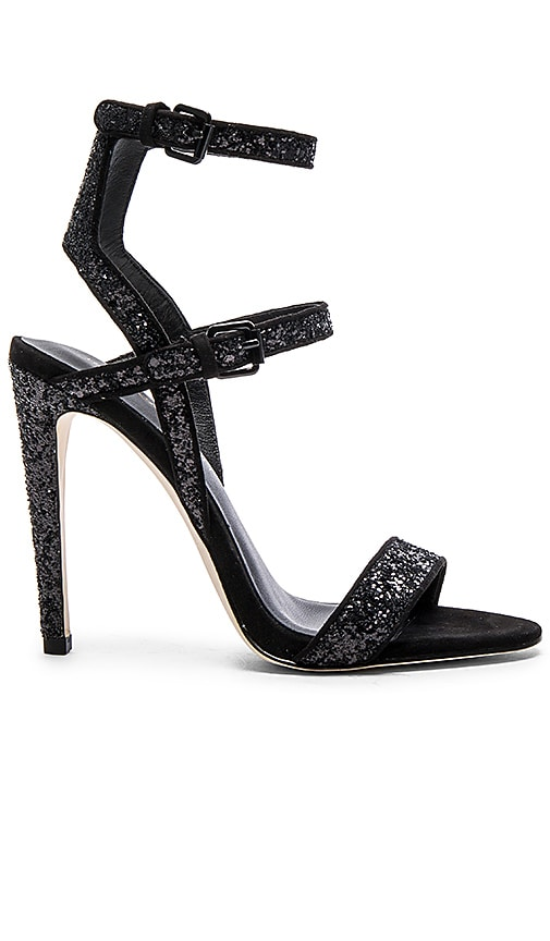 Rebecca Minkoff Rosalie Heel in Black Glitter