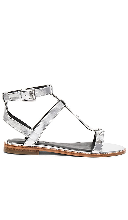 Rebecca Minkoff Sandy Sandal in Metallic Silver