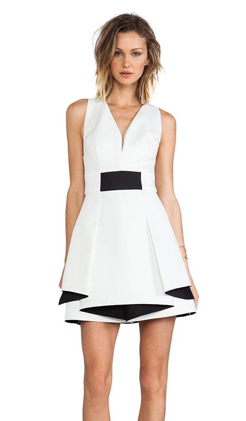 Bonded Neo Flounce Dress