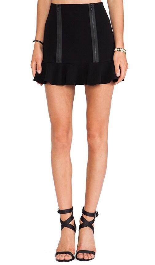 Zipped Flounce Skirt