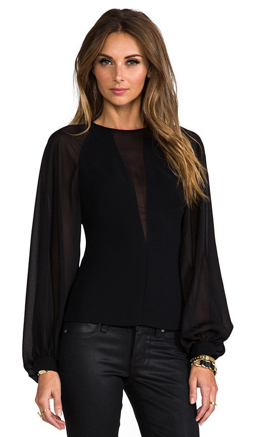 Techno Crepe Illusion Top