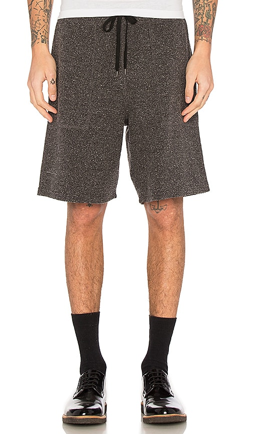 Robert Geller Richard Shorts in Charcoal