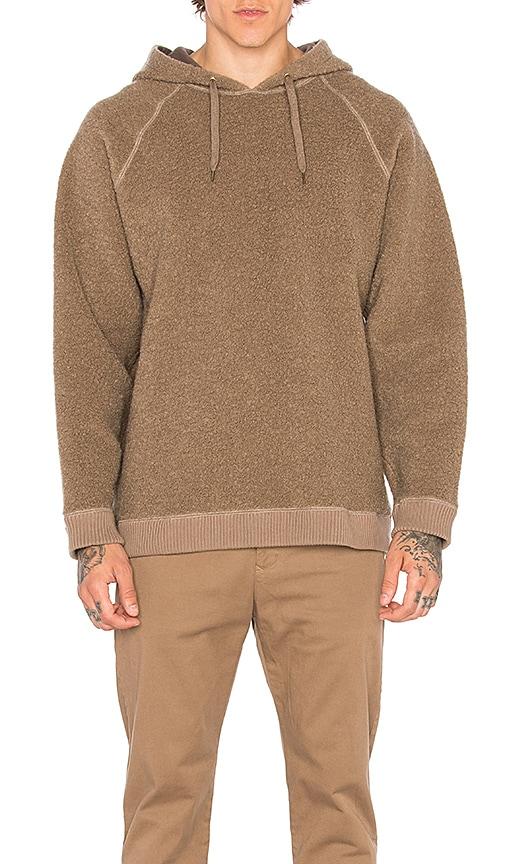 Robert Geller Textured Hoodie in Brown
