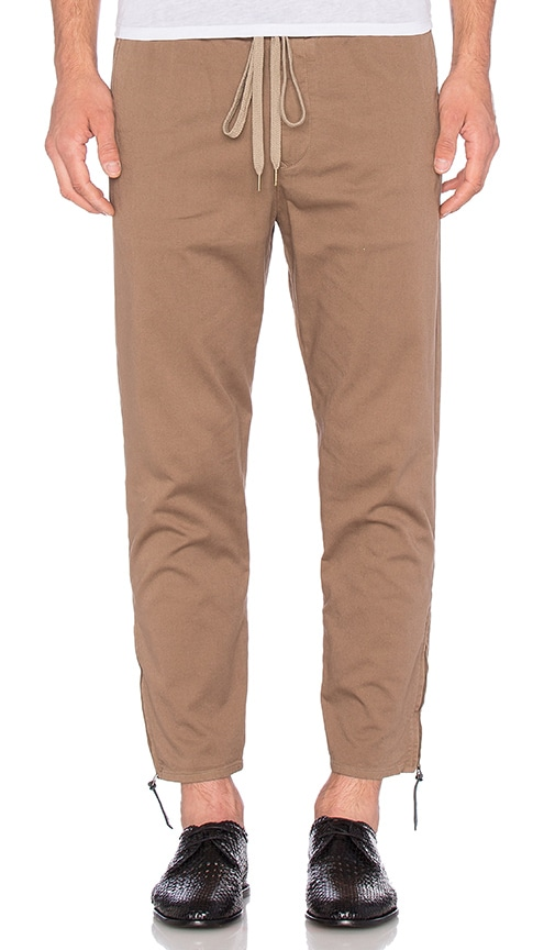 Robert Geller Garment Washed Dock Pant in Brown
