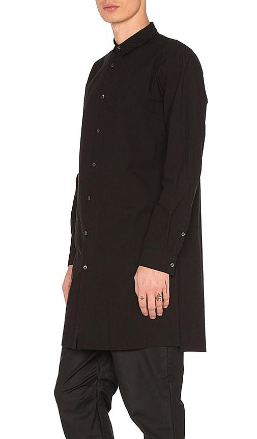 Robert Geller Long Shirt in Black
