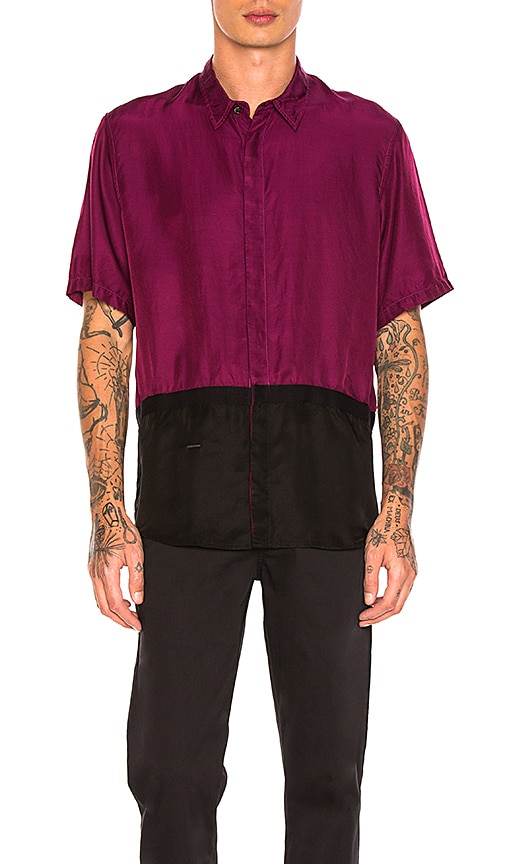 Robert Geller Two Toned Taped Shirt in Purple