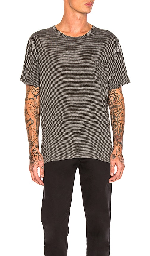 Robert Geller Striped Tee in Gray
