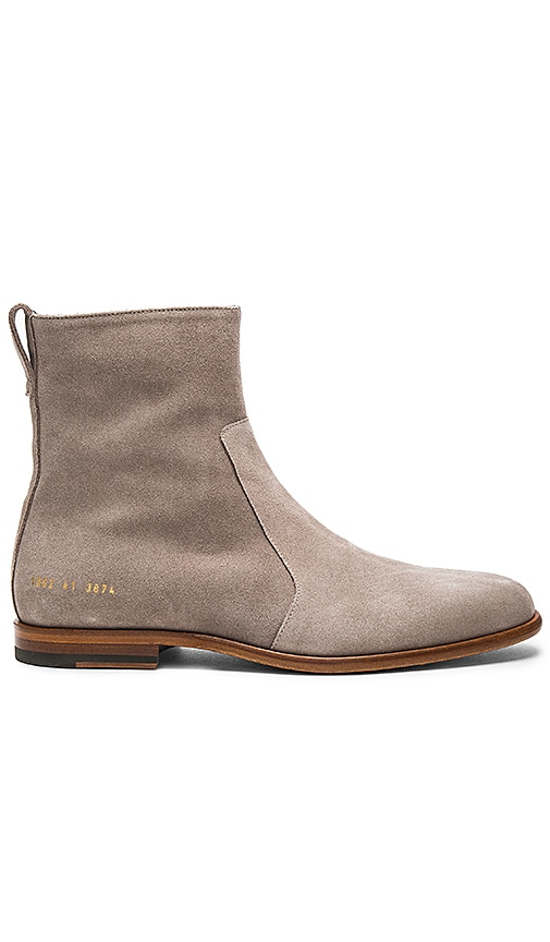 Robert Geller x Common Projects Chelsea Boots in Gray
