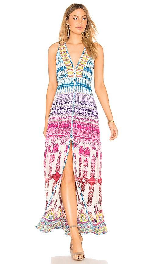 ROCOCO SAND V-Neck Maxi Dress in Blue
