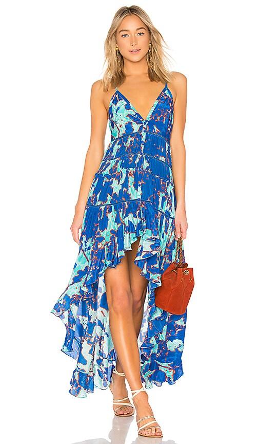 ROCOCO SAND Folium Maxi Dress in Blue