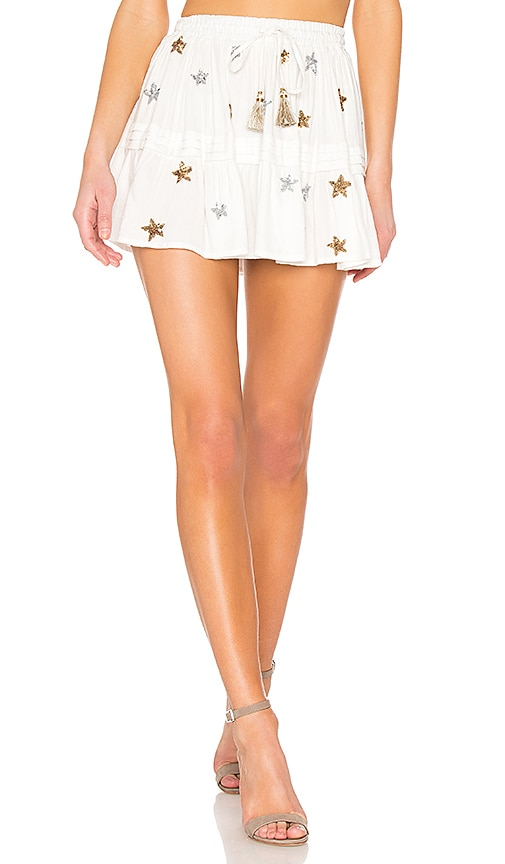 ROCOCO SAND Astral Short Skirt in White