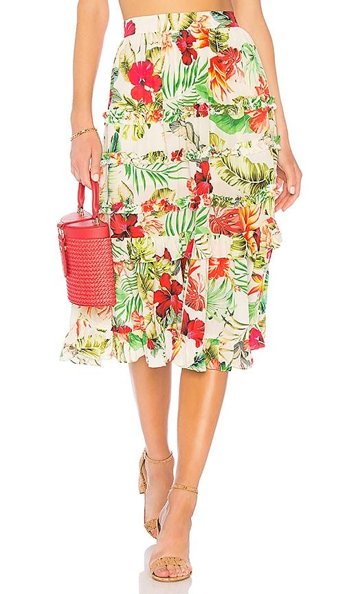 ROCOCO SAND x REVOLVE Aloha Skirt in Cream