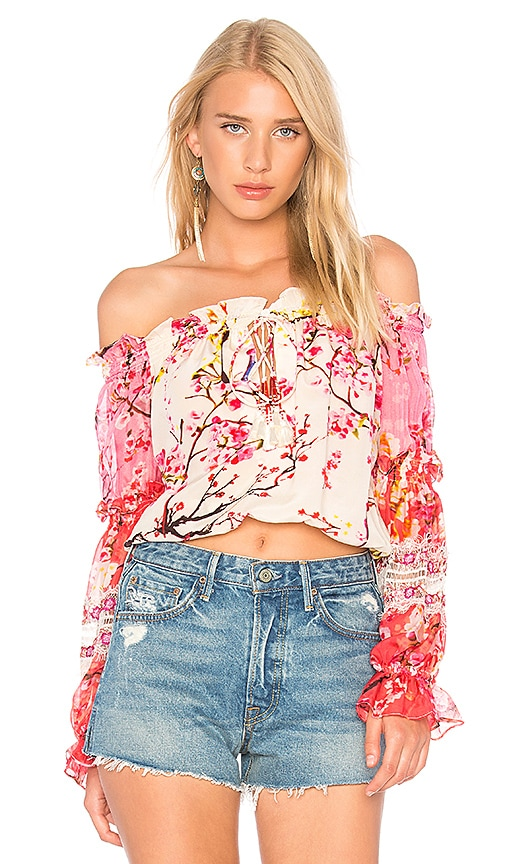 ROCOCO SAND Off the Shoulder Top in Pink