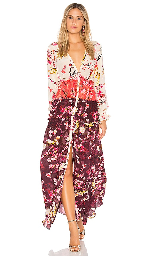 ROCOCO SAND Floral Maxi Dress in Red