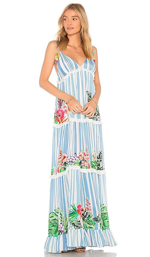 ROCOCO SAND Stripe Blossom Dress in Blue