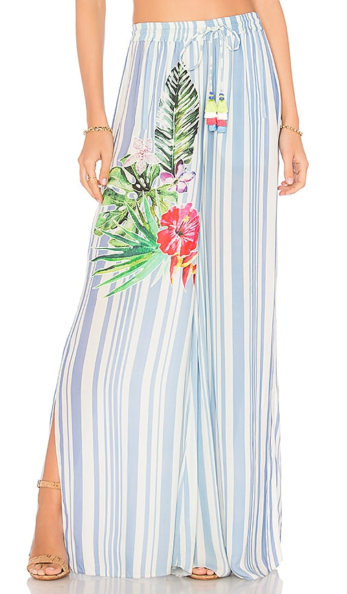 ROCOCO SAND Stripe Blossom Pants in Blue