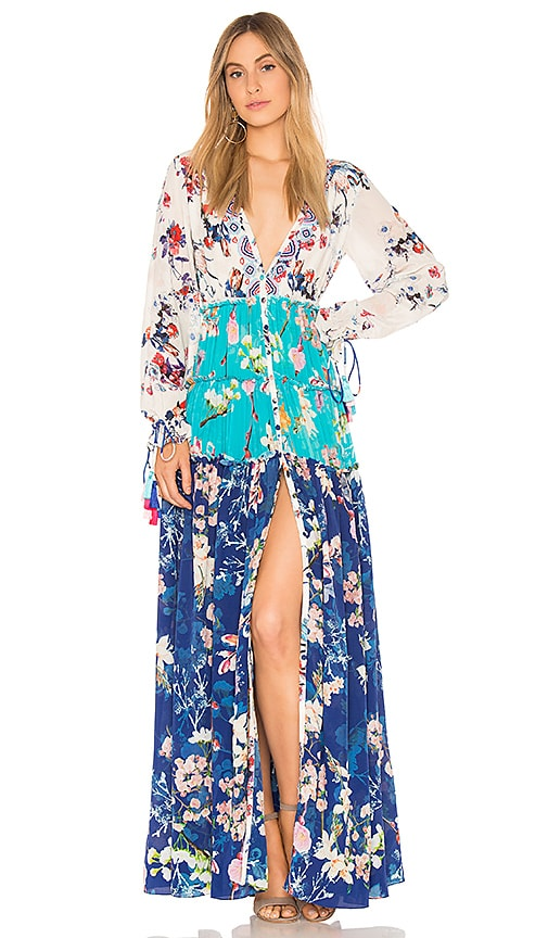 ROCOCO SAND Bella Maxi Dress in Blue