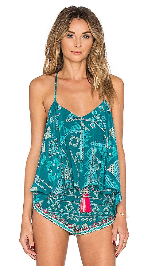 ROCOCO SAND Aztec Tank Top in Teal