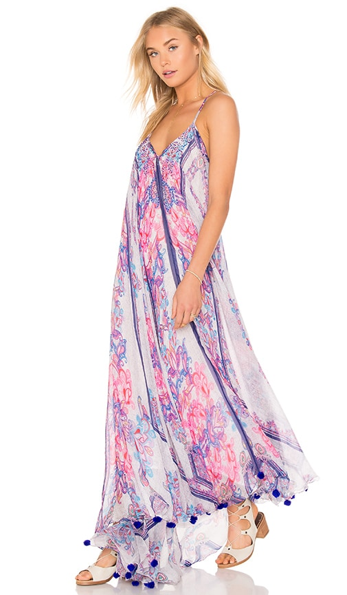 ROCOCO SAND Low Back Maxi Dress in Pink