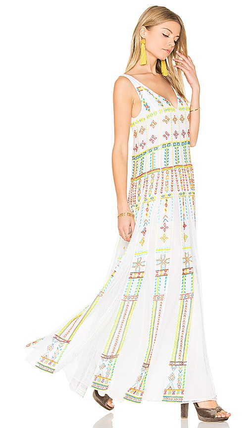 ROCOCO SAND Long Pleated Dress in White