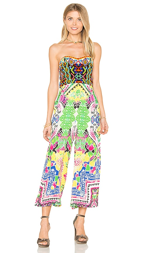 97441b57bbde ROCOCO SAND Strapless Jumpsuit in Colorful