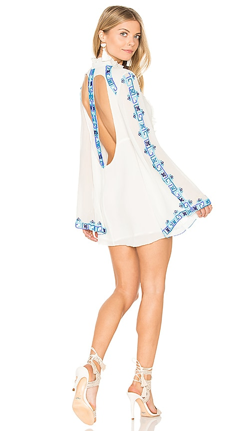 ROCOCO SAND Long Sleeve Mini Dress in White