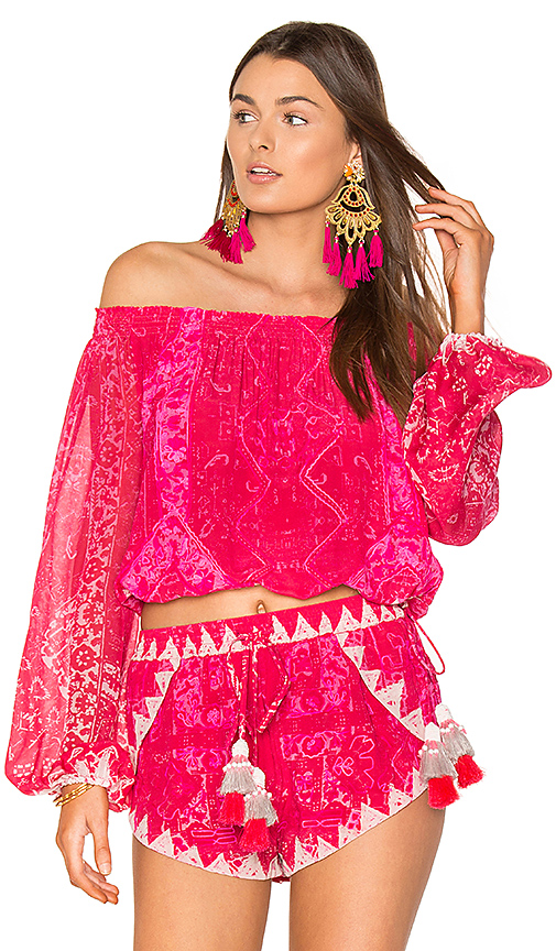 ROCOCO SAND Off Shoulder Top in Pink