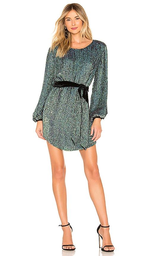 ab4c3ae4 retrofete Grace Dress in Metallic Turquoise | REVOLVE