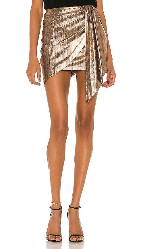 retrofete Luna Skirt in Bronze   REVOLVE