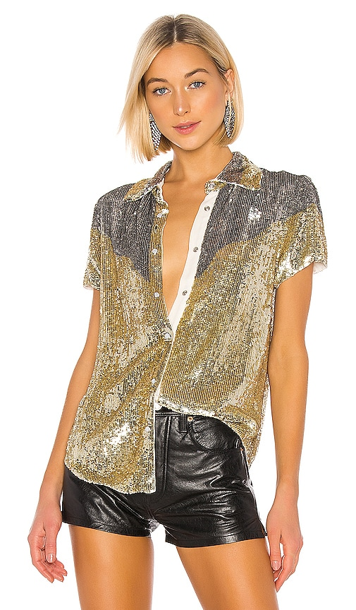 x REVOLVE Linda Top In Gold & Silver