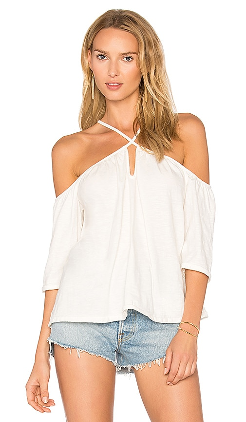 ROI Strappy Cold Shoulder Top in White