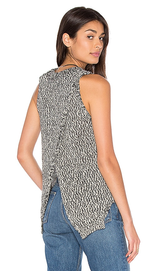 ROI Salt and Pepper Knit Tank in Black