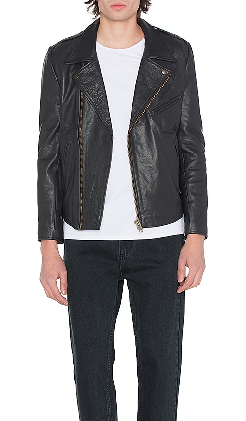 ROLLA'S Dagger Leather Jacket in Black