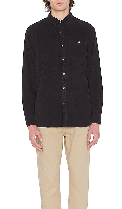 ROLLA'S Men At Work Corduroy Shirt in Black