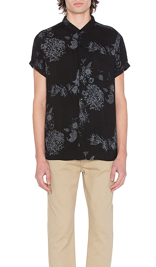 ROLLA'S Wild Rose Shirt in Black