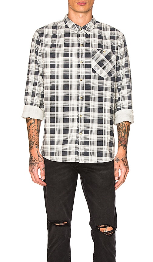 ROLLA'S Check Mate Shirt in Gray