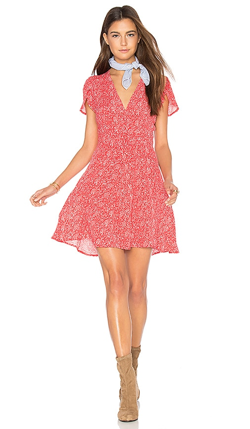 ROLLA'S Dancer Wrap Dress in Red