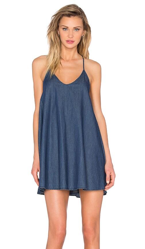 ROLLA'S Denim Shift Dress in Washed Blue