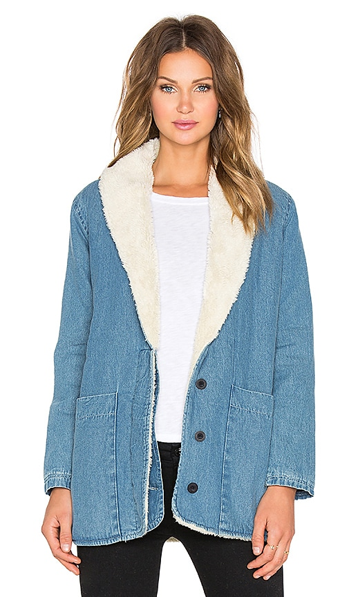 ROLLA'S Beach Party Coat in Washed Blue