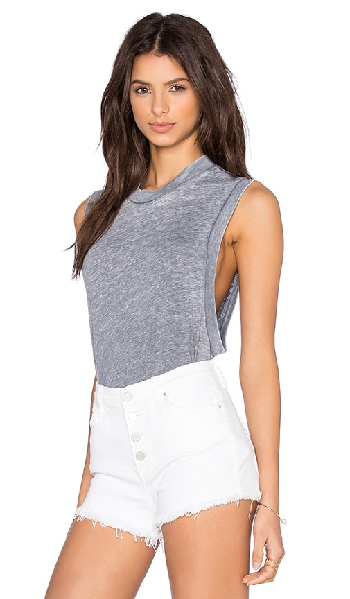 ROLLA'S Muscle Tank in Charcoal